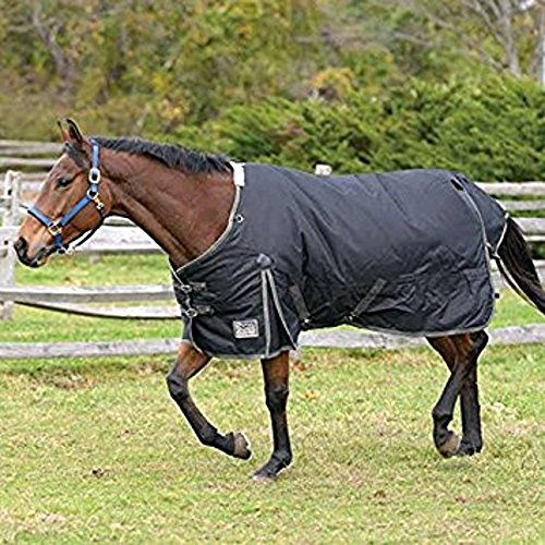 Waterproof Horse Sheet (Shires 1200D Stormbreaker Turnout Sheet - Black/Tan - 75)