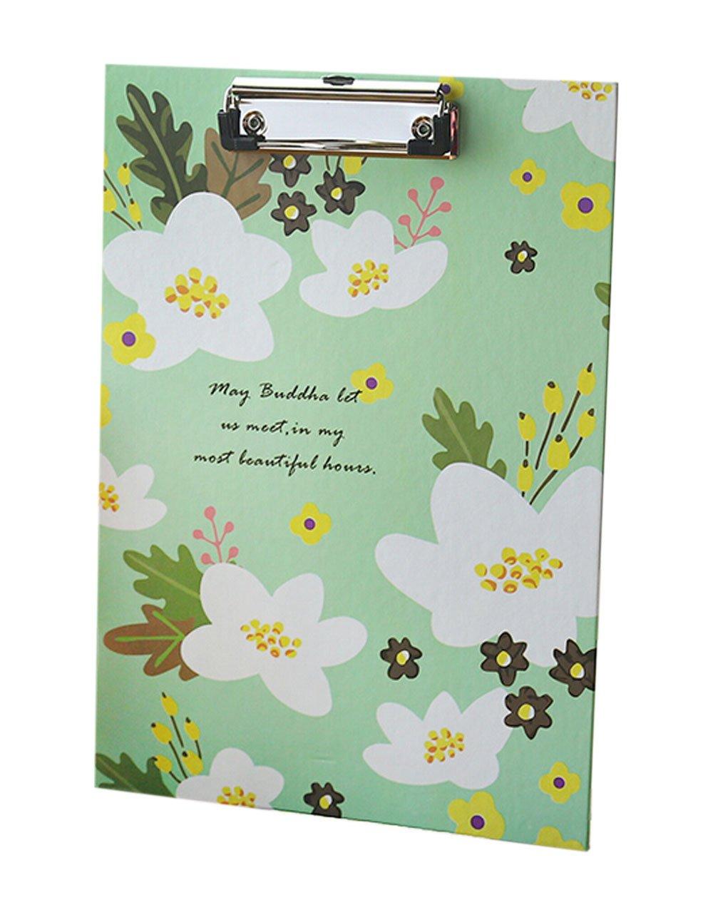 Set of 2 Clipboards For Sale Arts File Folder Writing ClipBoard(Floral) Black Temptation