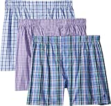 Polo Ralph Lauren Classic Fit Woven Boxers 3-Pack, M, Percy Plaid Purple