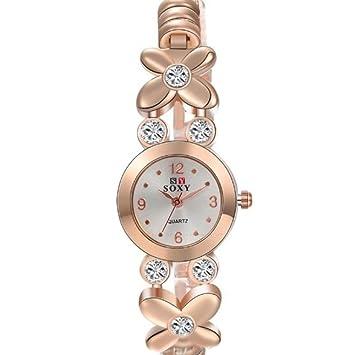 Quartz Watch Reloj De Pulsera De Niña De Moda Reloj De Mujer De Cuarzo De Moda: Amazon.es: Jardín