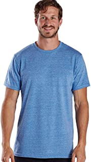 product image for US Blanks Men's Short-Sleeve Made in USA Triblend T-Shirt XS TRI BLUE