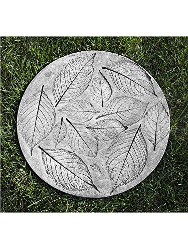 Campania International E-123-AS Hydrangea Leaf Stepper Step Stone, Alpine Stone Finish