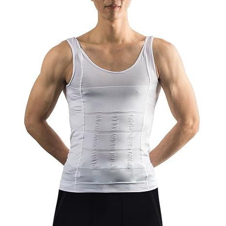 25928a3d3d979 Débardeur gainant - IMAGE T-Shirt amincissant - Sous-Vêtements masculins  pour Hommes -