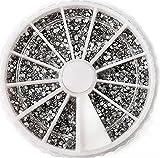 2400 PcsExceptional Popular 3D Diamond Gems Random Mixed Nail Art Cellphone Decor Non-Toxic Fashion Tips Size 1.5mm Color White