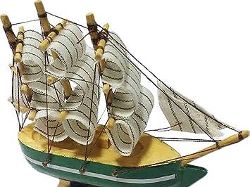 Présentoir de bateau à voile en bois fait à la main bateau à