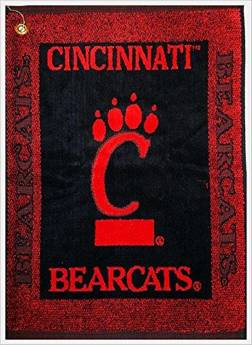 Deluxe Woven Golf Towel - NCAA Cincinnati Bearcats Deluxe Woven Golf Towel w/Hook