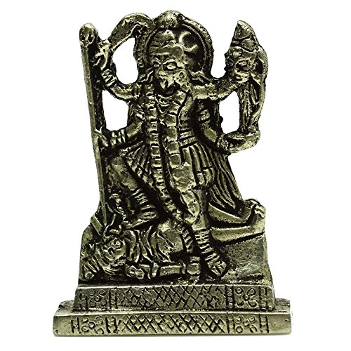Brass Goddess Kali Statue Car Dashboard Metal Décor, used for sale  Delivered anywhere in USA