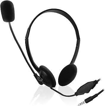 Ewent EW3567 - Auriculares de diadema abiertos para smartphone/tablets (con micrófono): Amazon.es: Electrónica