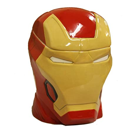 bcb351fd5 Amazon.com: Ironman CJR-AUM2-IRONMAN CP14905 Iron Man Head Molded Cookie Jar  One Size Multicolor: Kitchen & Dining