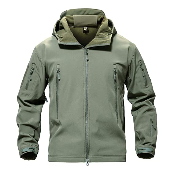 0779b78cc501 Men s Windproof Waterproof Jacket Mountain Durable Combat Coat Army Green XS