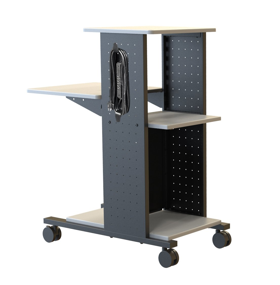 Luxor WPS4E 40'' Mobile Presentation Station Rolling Cart with Electric