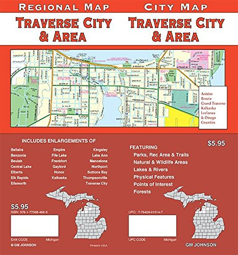 Traverse City / Gaylord / Crystal Lake, Michigan Street Map (Traverse City Map Michigan)
