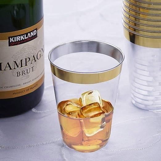 efavormart chambury con borde dorado Juego de 12 vasos de chupito ...