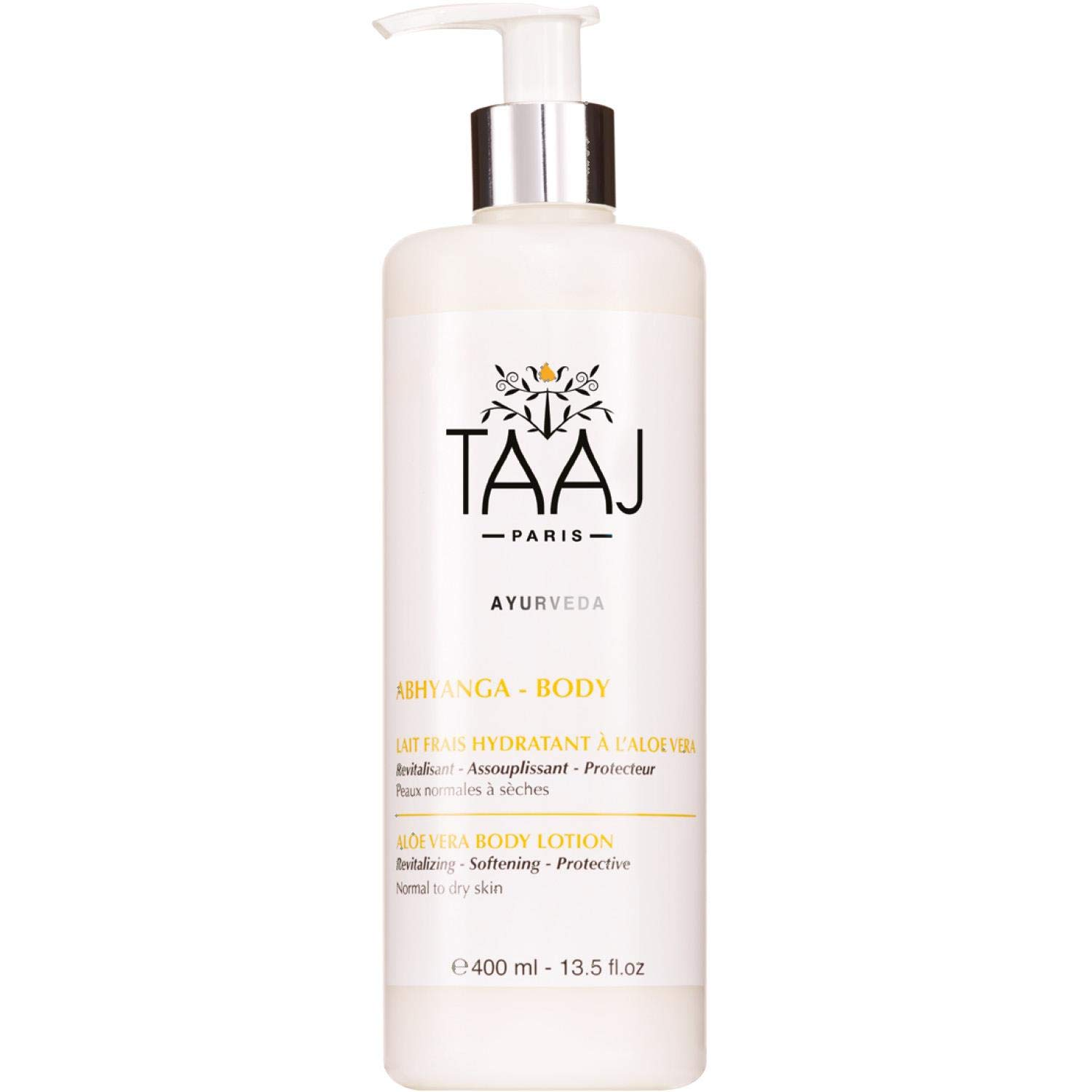 Delicious Body Lotion for Dry Skin - Natural Hyaluronic Acid for Sensitive Skin - Anti-aging formula contains Aloe Vera, Camellia Oil, Moringa Butter & Organic Silk Proteins - 13.5 oz.