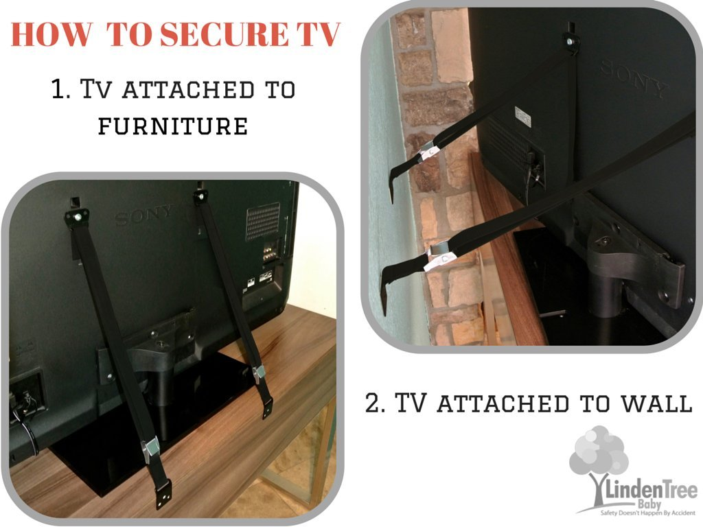 SUPER VALUE PACK Multi-Purpose Anti Tip TV Strap. All Metal Parts. Easy Install by PEROZEK (Image #6)