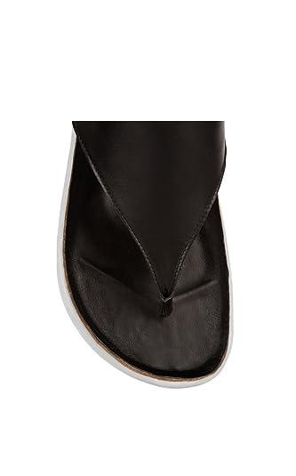 Black Size 11 M US 42 EU Atelje 71 Ajax Leather Platform Thong Sandal