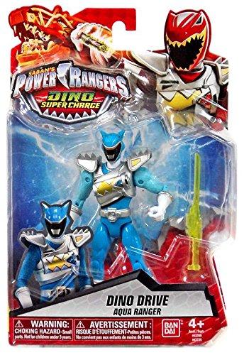 Power Rangers Dino Super Charge - 5 Dino Drive Aqua Ranger Action Figure