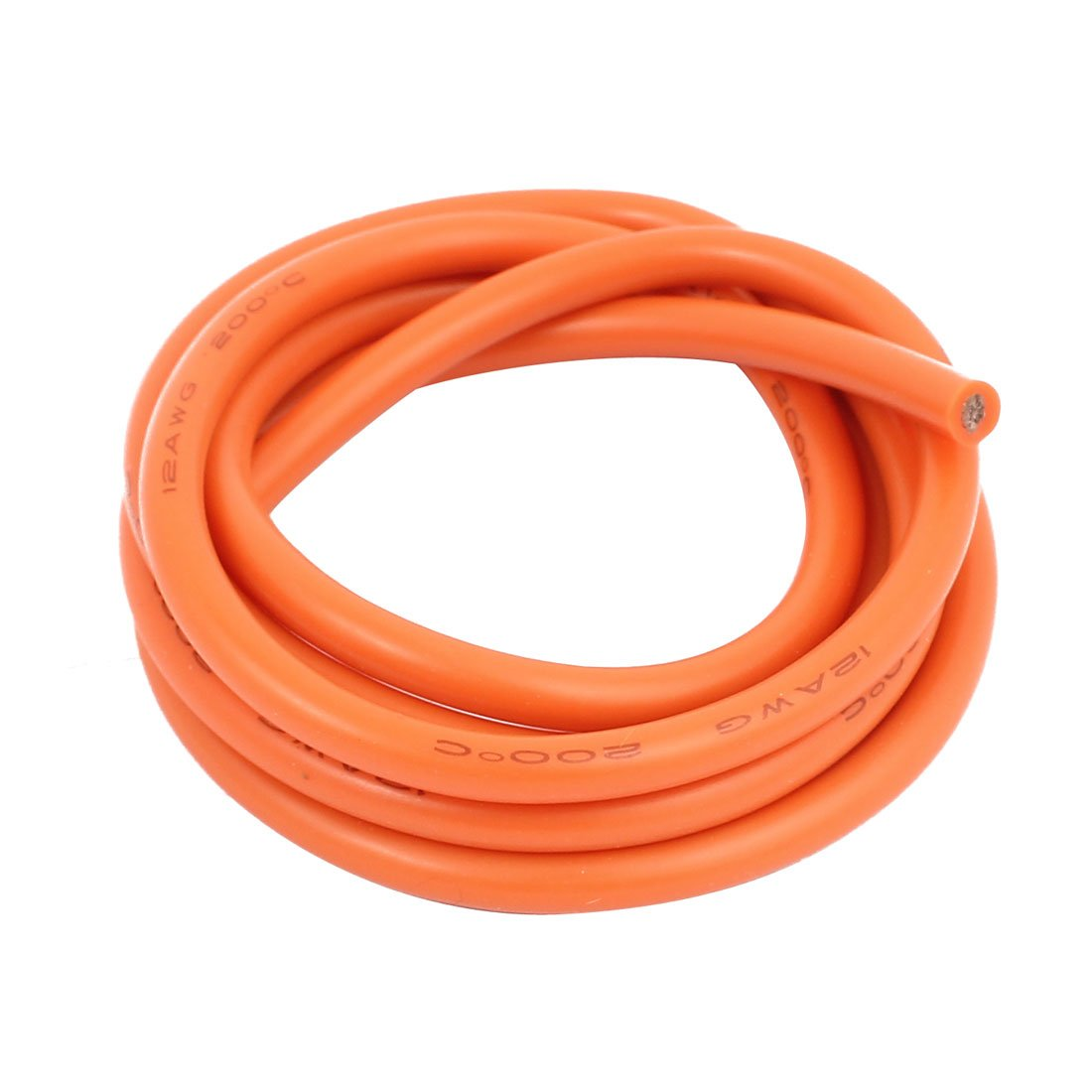 Aexit 1 Meter Video Cables 12AWG Orange Gauge Flexible Stranded Copper Cable Silicone Wire for Firewire Cables for RC