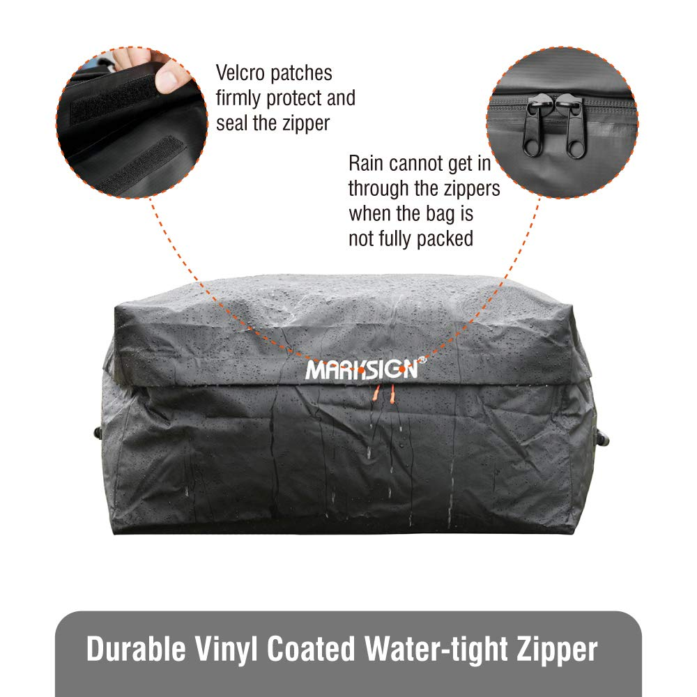 MARKSIGN 100/% Waterproof Hitch Carrier Cargo Bag 59 x 24 x 24 6 Lashing Straps with Cam Buckles Waterproof Zipper and Rain Flap 20 Cu Ft