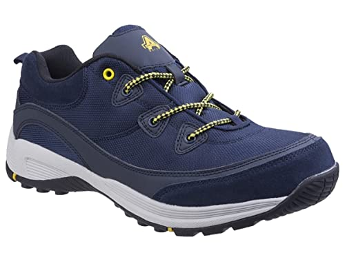 9f6f09ffc86 Amblers Mens Safety Trainers/Navy Blue Leather Suede Steel Toe Cap ...