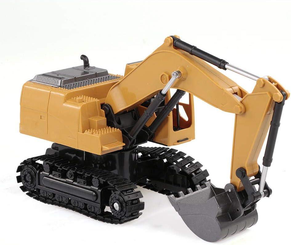 YXXERSHI 1/24 8CHRC Alliage moulé sous Pression Construction métallique Tracteur, 2.4 Ghz télécommande RC ingénieur Camion Voiture Cadeau d'anniversaire Jouet-A A