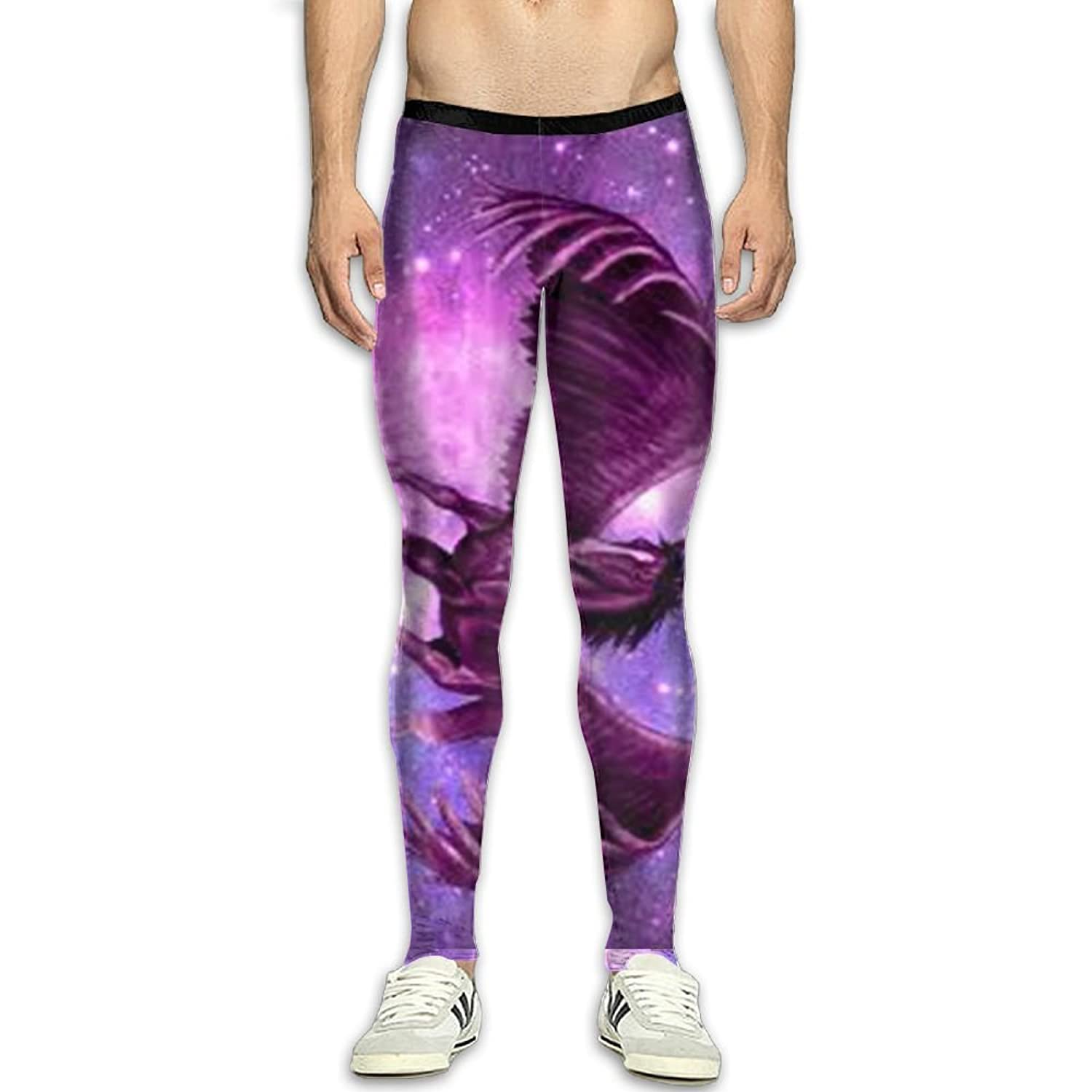 a79d28518e JJP1CO Men's Compression Pants Pegasus 3D Print Baselayer Cool Dry Sports  Thermal Tights Running Fitness
