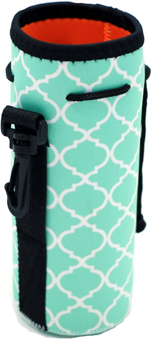Orchidtent Protable Neoprene Insulated Water Drink Bottle Cooler Carrier Cover Sleeve Tote Bag Pouch Holder Strap