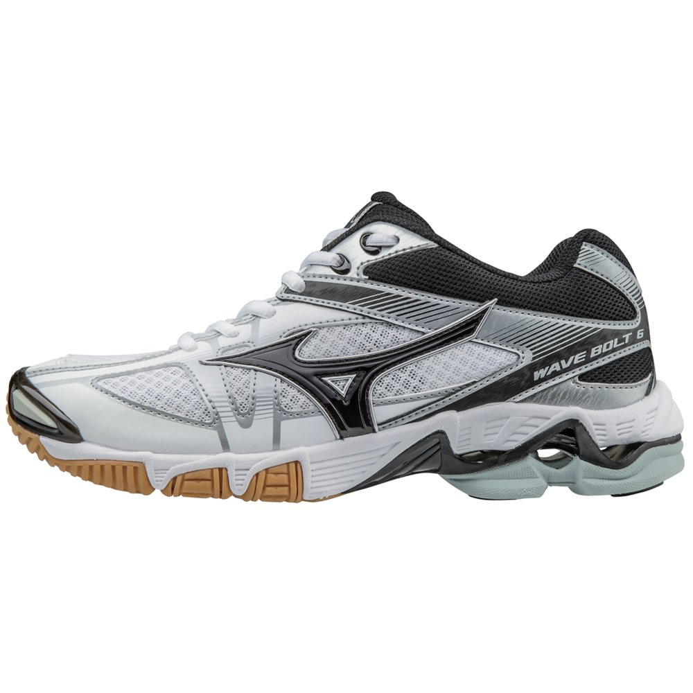 f16a9905f73483 Amazon.com  Mizuno Women s Wave Bolt 6 Volleyball Shoes - White   Black  (Women s Size 10)  Sports   Outdoors