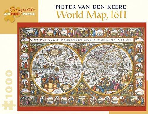 Pieter Van - Pieter Van Den Keere World Map 1000-Piece Jigsaw Puzzle Aa902