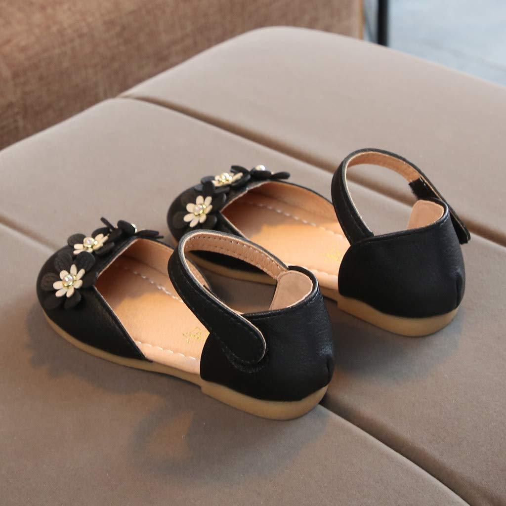 Toddler Sandals Girls Summer Shoes Leather Soft Closed Toe Princess Flat Shoes Sandals Mary Janes Shoe Memela