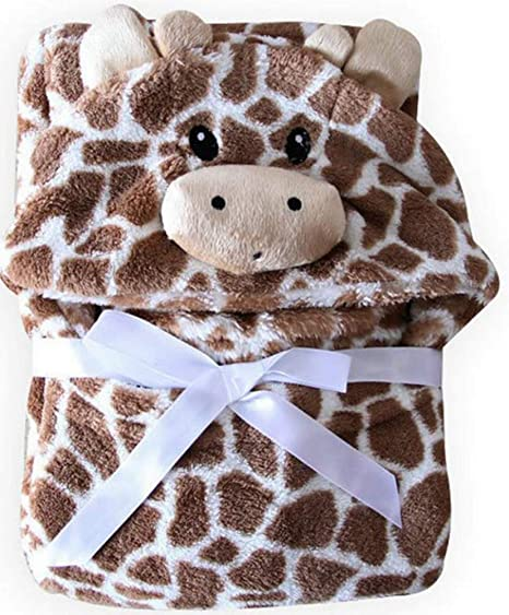 Giraffe Bear Shaped Baby Hooded Bathrobe Soft Infant Newborn Bath Towel Blanket