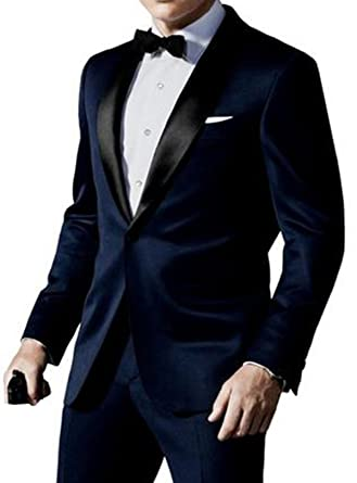 Red Smoke Skyfall James Bond Midnight Blue Tuxedo Suit Amazon Co Uk