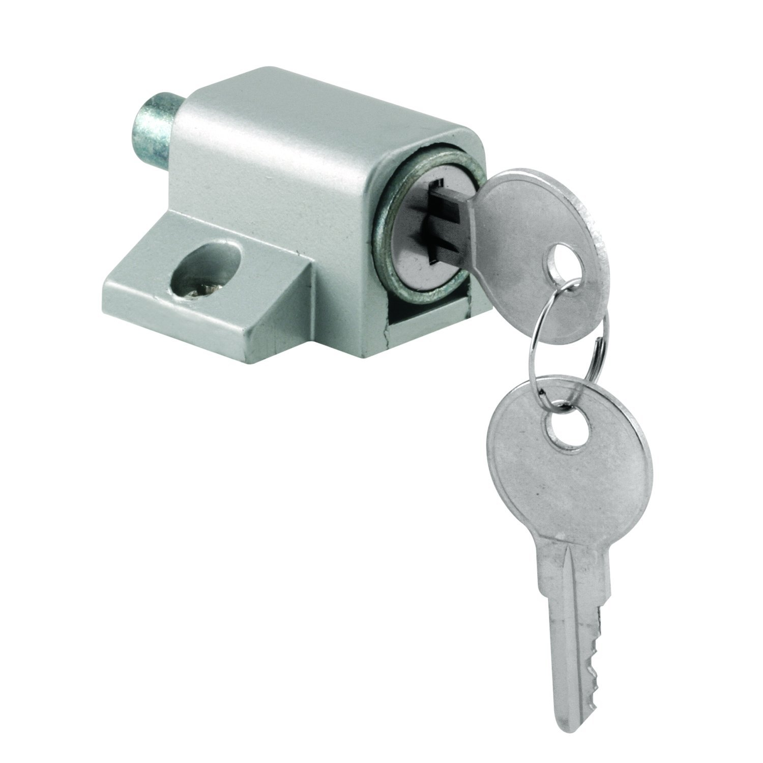 Prime Line U 9861 Push In Sliding Door Keyed Lock, Aluminum Finish   Door  Hardware   Amazon.com