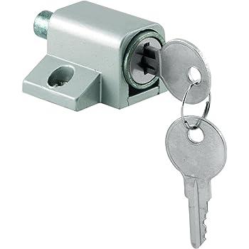 Prime Line Products U 9861 Push In Sliding Door Keyed Lock