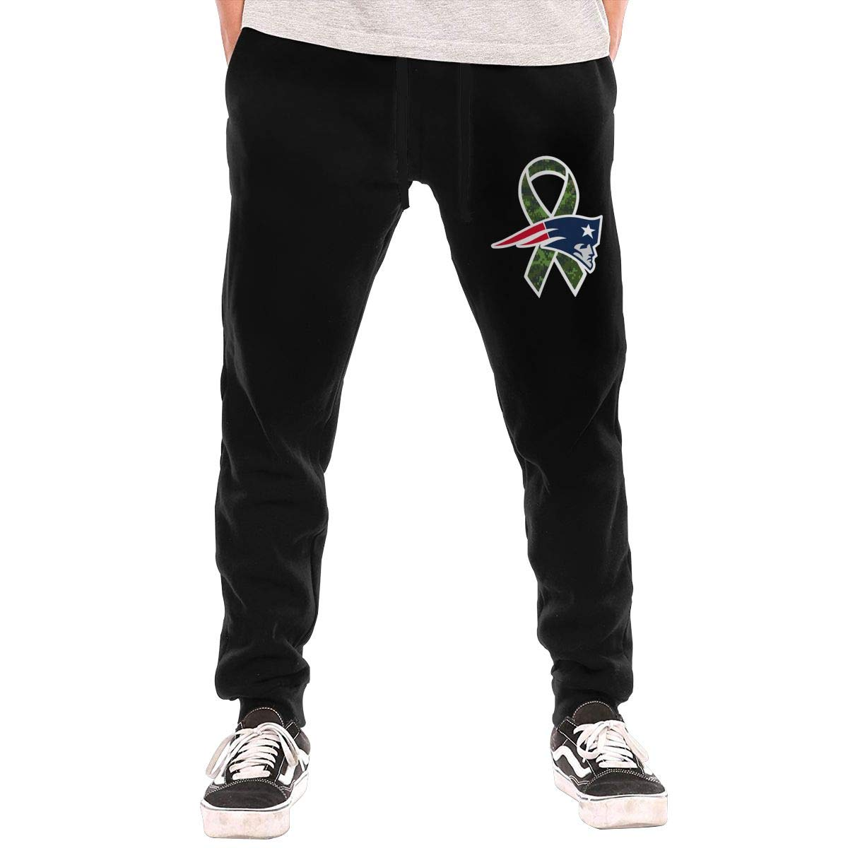 b16d05293 Black BarWords Men's Casual Casual Casual Sweatpants  New-England-Patriots-Coma-Logo Jogger Pants Gym Workout Running Sportswear  Trousers 43c984