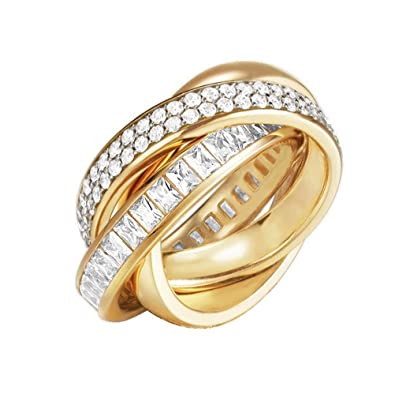 Esprit Brass Tridelia Gold Women Ring-ESRG02258B170