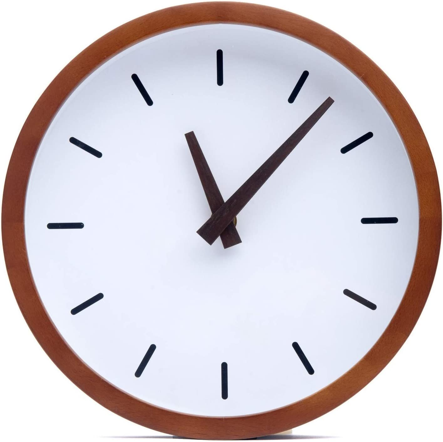 Driini Modern Wood Analog Wall Clock 9 Battery Operated With Silent Sweep Movement Small Decorative Wooden Clocks For Bedrooms Bathroom Kitchen Living Room Office Or Classroom Amazon Ca Home Kitchen