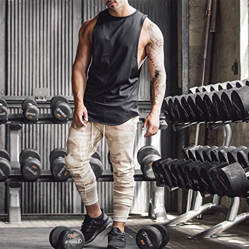 f0788c3f00406 Magiftbox Mens Muscle Tanks Workout Gym Tank Tops Fitness Training  Sweatshirts for Men