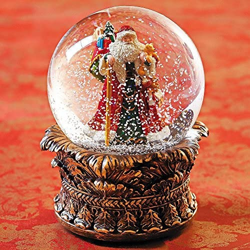 6 Santa With Toy Sack Dome Wind Up 100mm Plays We Wish You A Merry Xmas by Roman