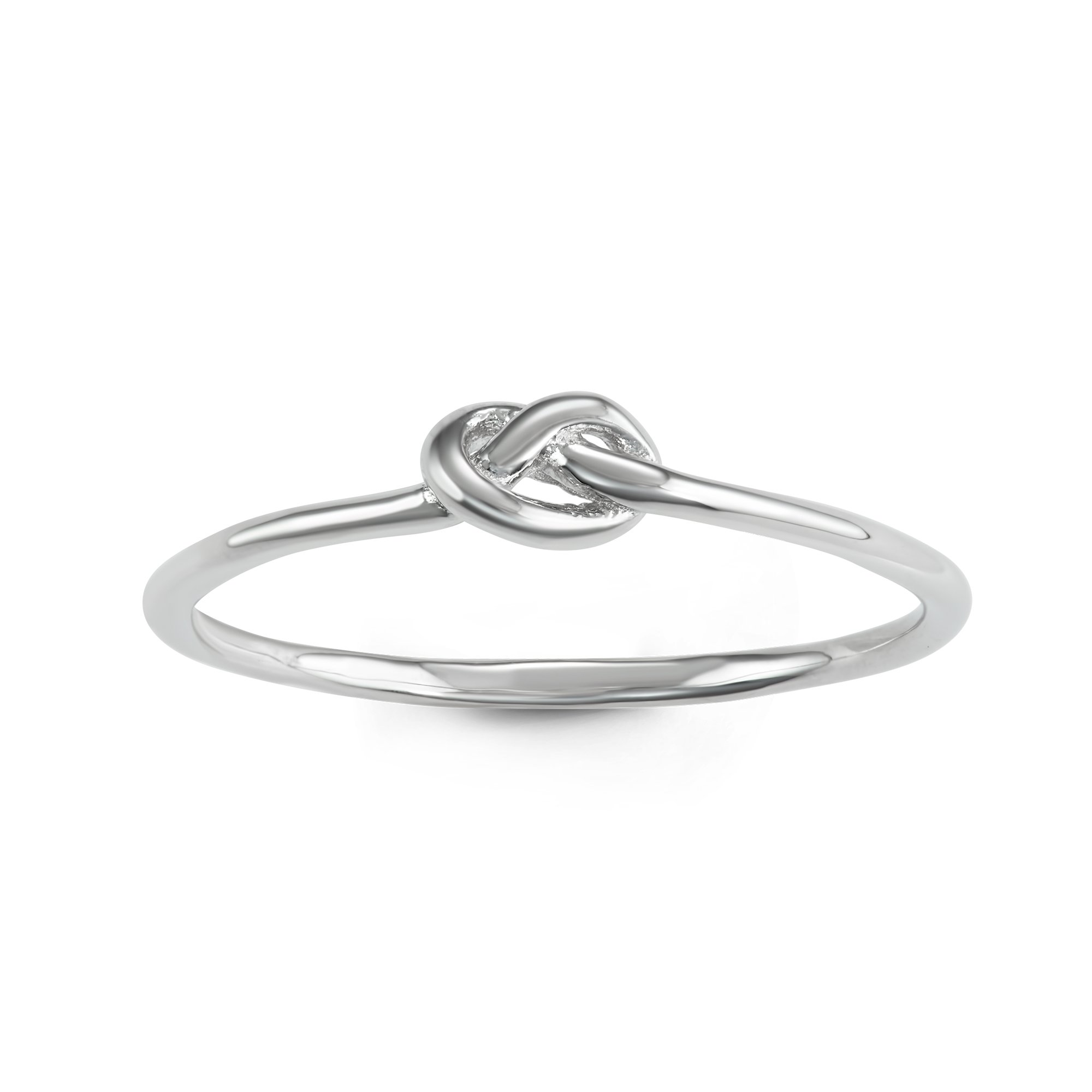 Sterling Silver Classic Love Infinity Knot Ring (Size 7)