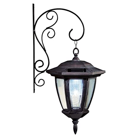 Collections etc traditional porch light lantern solar wall light