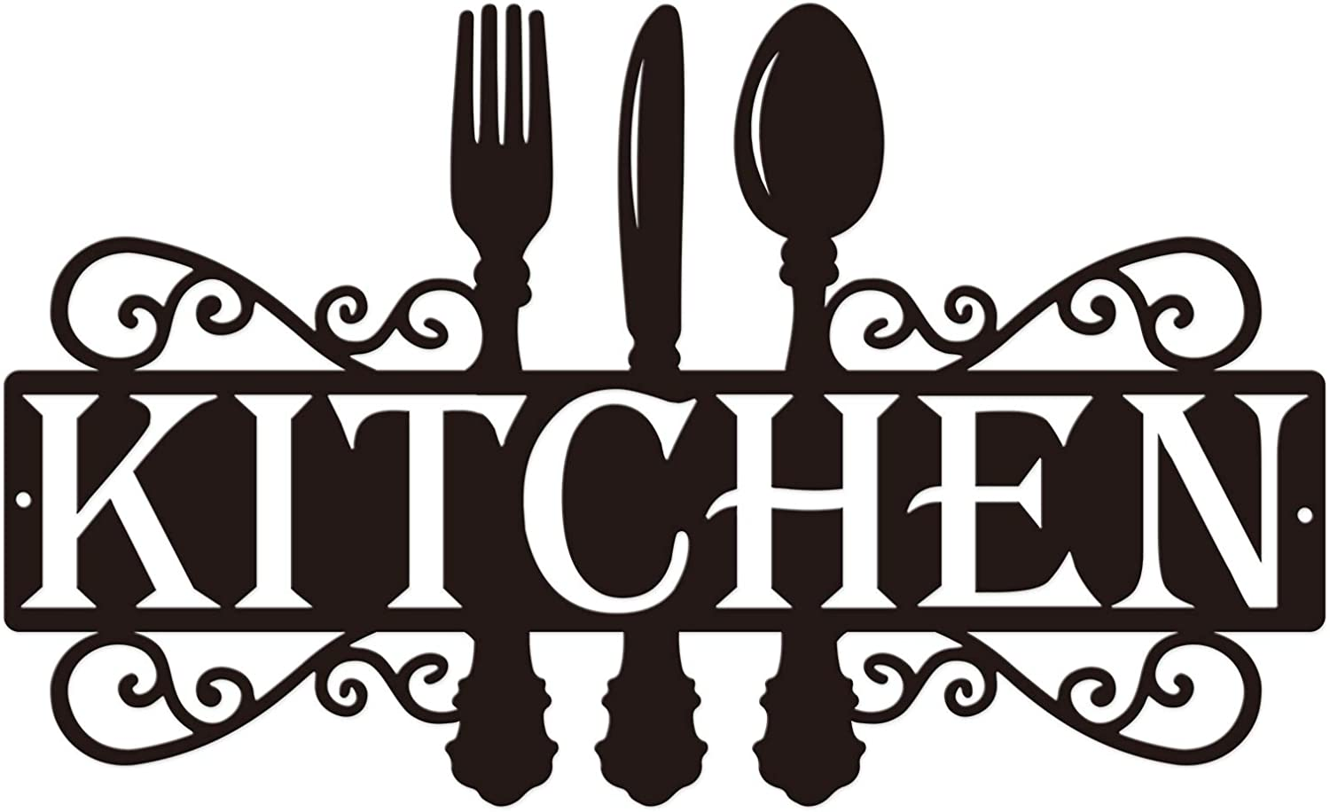 Kitchen Metal Sign - 14 X 8.5 Inches   Dining Room Wall Decor Kitchen Wall Art Farmhouse Cooking Gift Housewarming Gift
