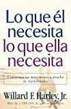 Lo Que El Necesita, Lo Que Ella Necesita/ His Needs, Her Needs: Construye un matrimonio a prueba de infidelidades…