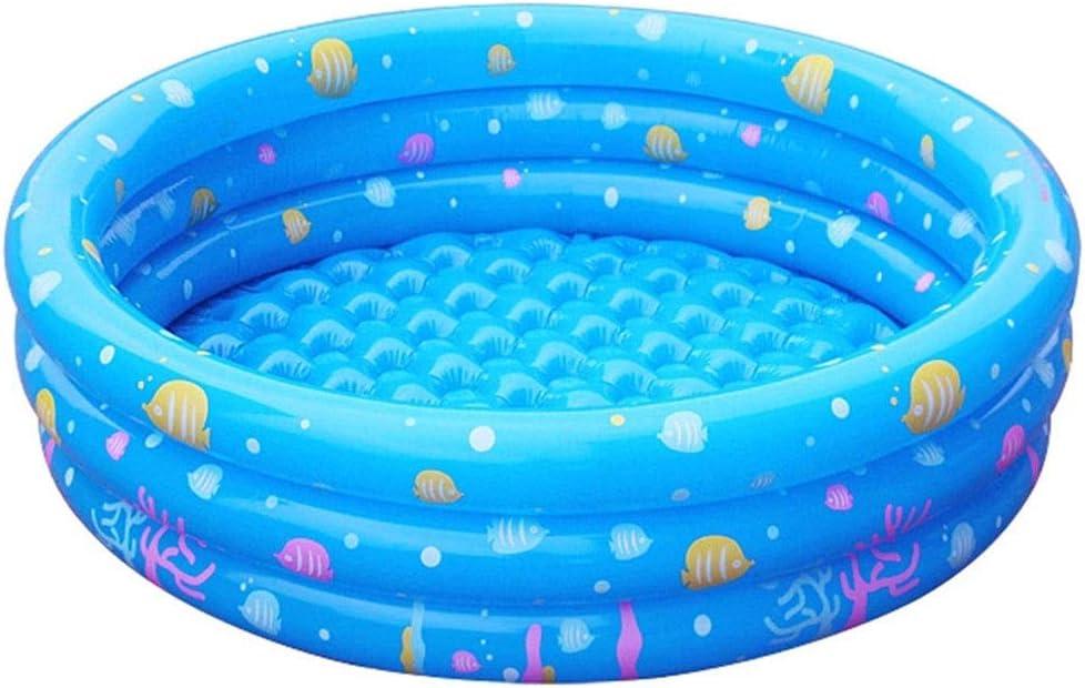 HEROTIGH Piscinas Hinchables Inflable Engrosamiento Fondo De Burbujas Piscina Marina para Bebés Niños Estanque De Peces Juguetes para Piscinas Redondo Plegable Hogar 80Cm Inflatable Pool