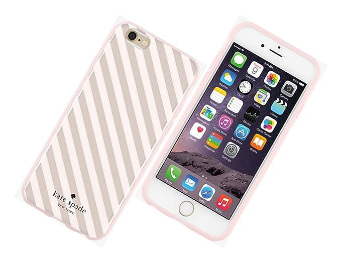 wholesale dealer e1a06 044fe Kate Spade Flexible Hardshell Case for Iphone 6/6s - Rose Gold Diagonal  Stripe