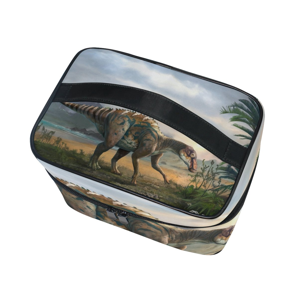 Amazon.com : ALIREA Dinosaur Art Cosmetic Bag Travel Makeup Train Cases Storage Organizer : Beauty