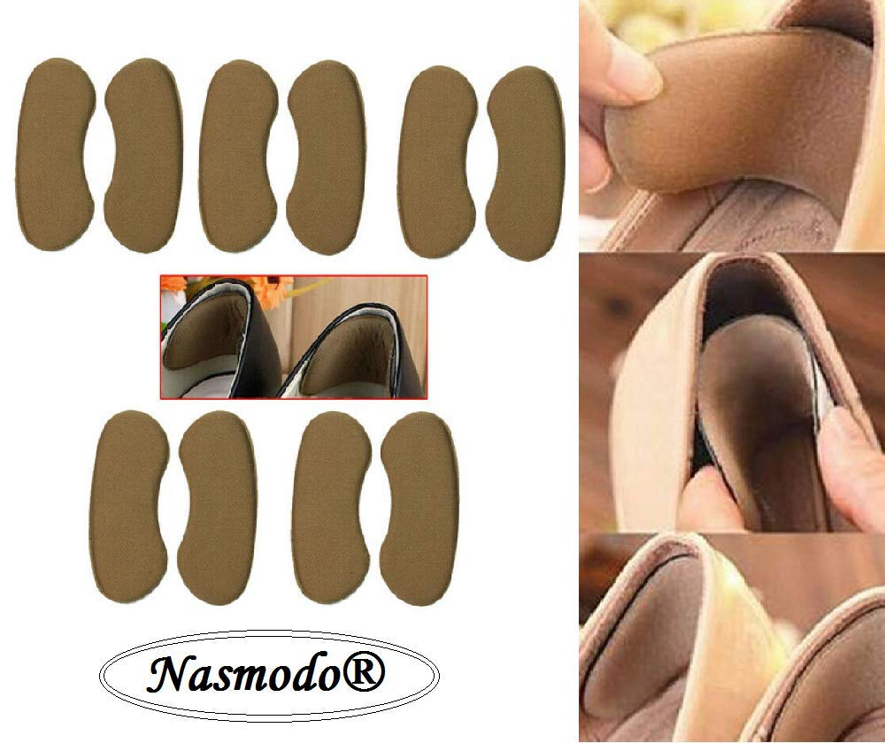 1 Pair Sticky Fabric Shoe Heel Inserts Insoles Pads Cushion Grip ProtectEC