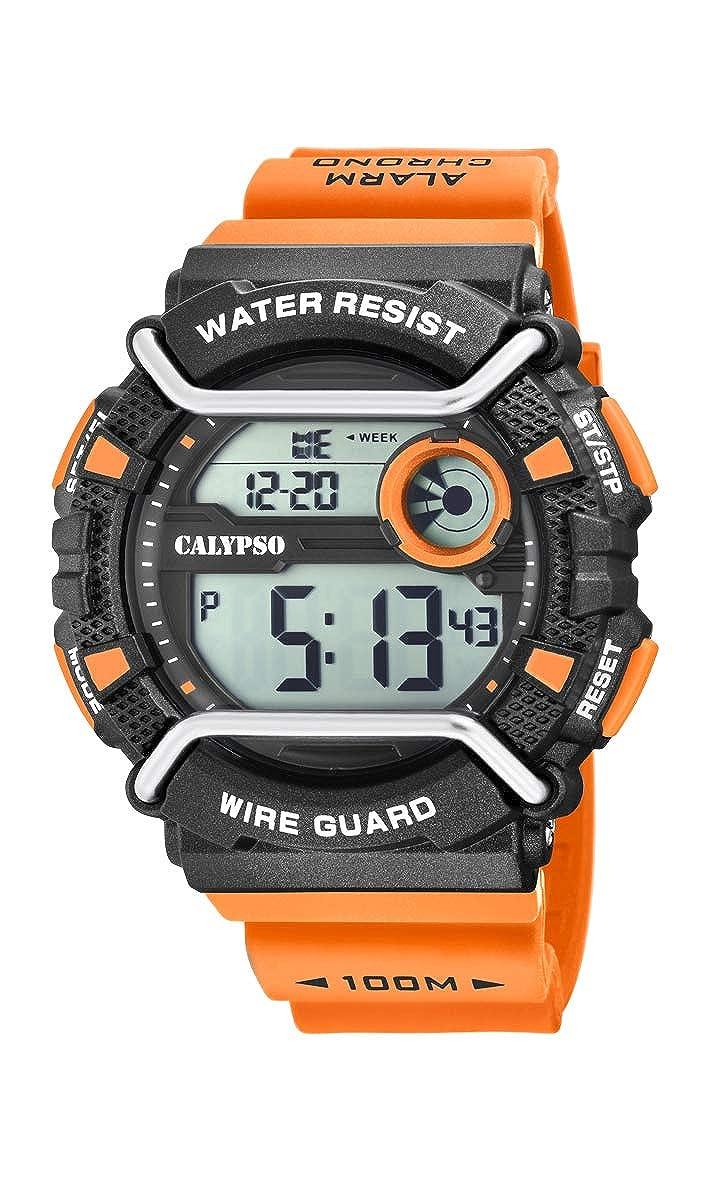 Calypso Watches Reloj Digital para Hombre de Cuarzo con Correa en Plástico K5764/1