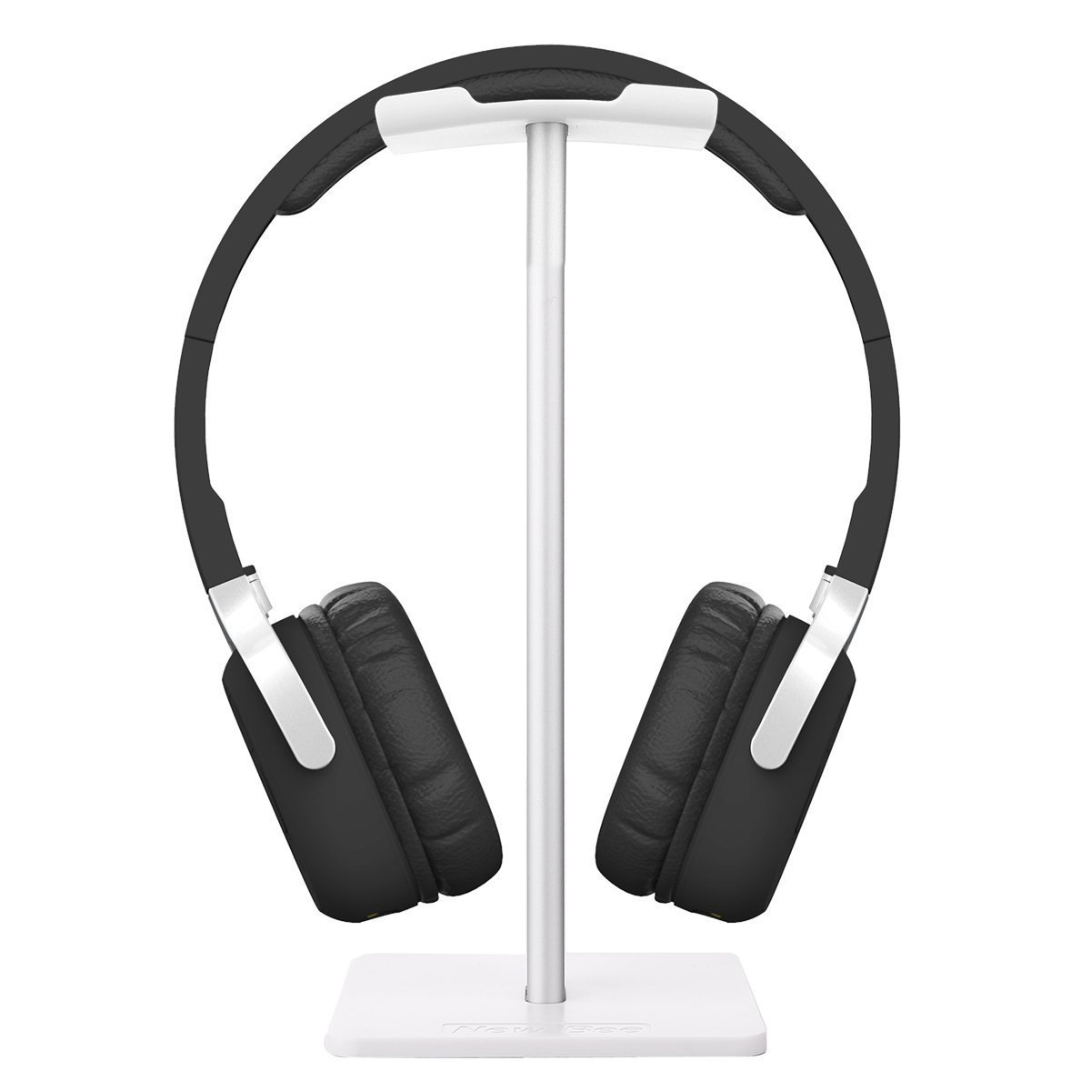 Headphone Stand Headset Holder New Bee Earphone Stand with Aluminum Supporting Bar Flexible Headrest ABS Solid Base for All Headphones Size - Silver CA-E6GH-SLIVER
