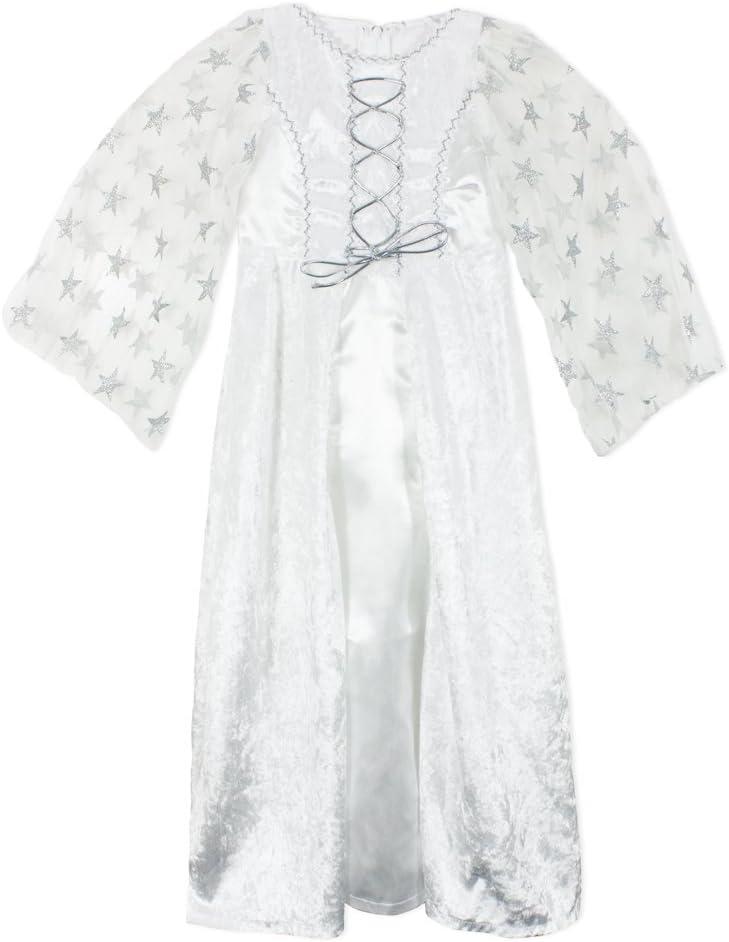 Disfraz de angel lea con estrellas para niña - plata blanca (7-8 ...